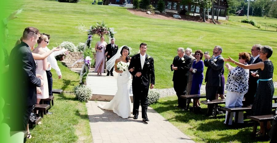 Beautiful Outdoor Wedding Ceremony Location At Pats Peak