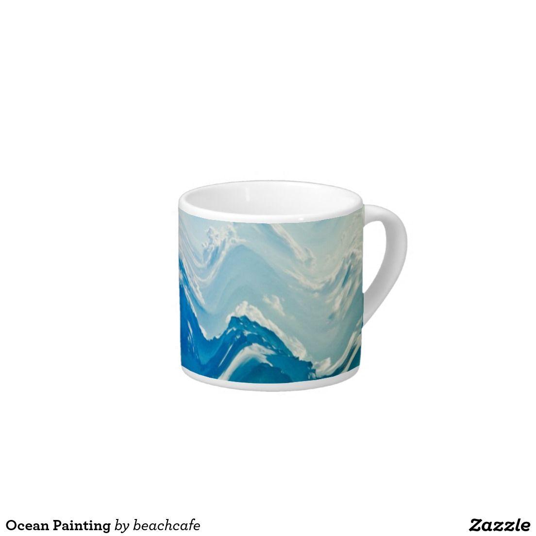 Ocean Painting 6 Oz Ceramic Espresso Cup