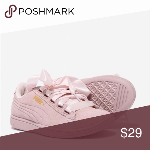 9b1595aae90 New Puma Pink Ribbon Suede Sneakers Soft foam New Puma Pink Ribbon Suede Sneakers  Soft foam cushioned flatbed