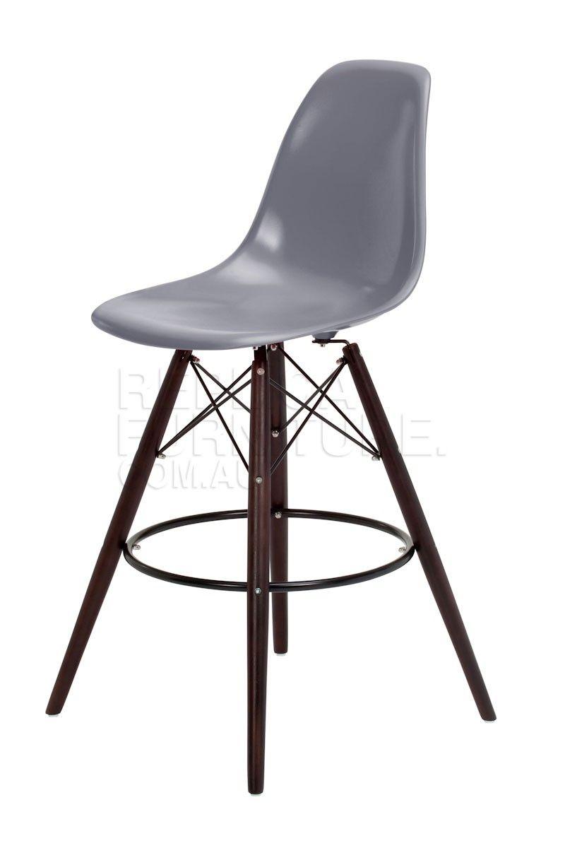 Replica Charles Eames style Bar Stool Dark Leg Bar