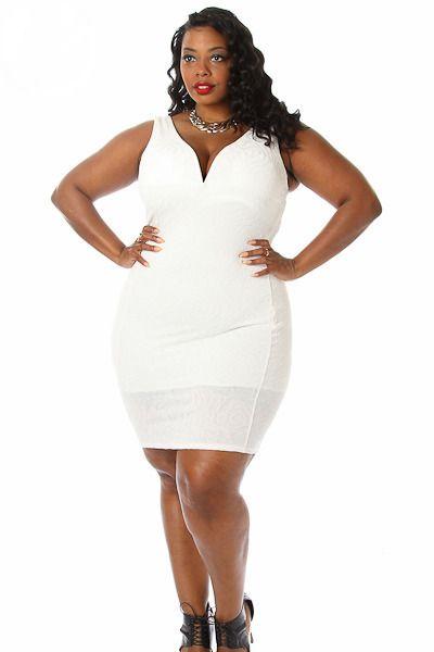Outlet Plus Size Bodycon Slanted Peplum Dress In White 1x 2x 3x