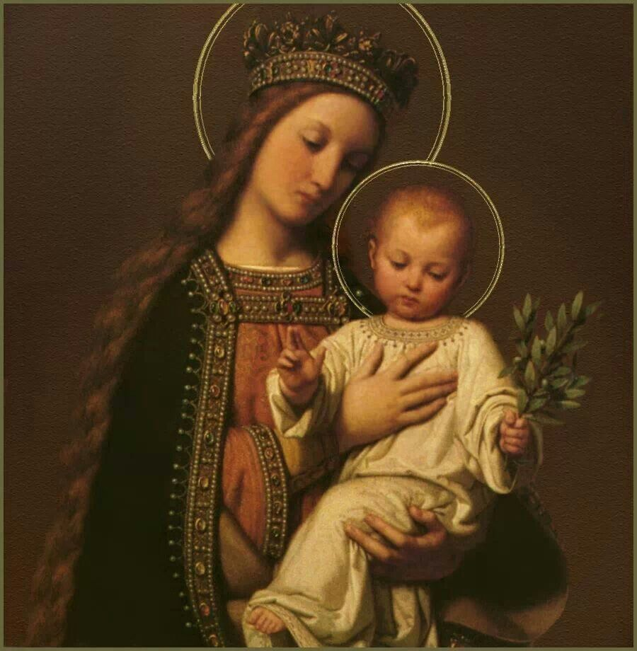 Blessed Mother Mary And Jesus .Blessed Virgin...