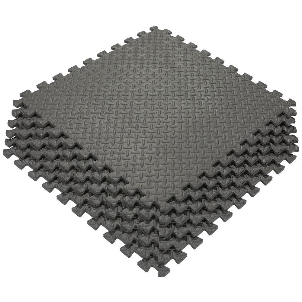 Ottomanson Multi Purpose Black 24 In X 24 In Eva Foam