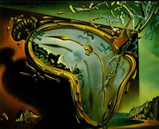 Melting Watch 1954 I Like How The Watch Melt And It Feels Like It Moving Really Slowly With The Curve Lines Dali Art Salvador Dali Paintings Dali Paintings