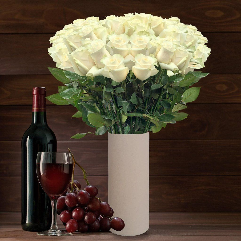 50 stem white roses ebloomsdirect whitewinepromo flowers 50 stem white roses ebloomsdirect whitewinepromo mightylinksfo