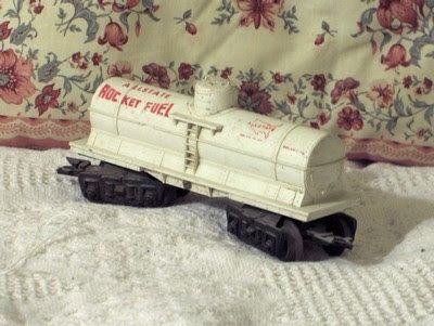 A Junkee Shoppe Junk Market Stop: MARX 1 Dome White Tanker Car Allstate Rocket Fuel ... For Sale Click Link Here To View >>>> http://ajunkeeshoppe.blogspot.com/2015/12/marx-1-dome-white-tanker-car-allstate.html