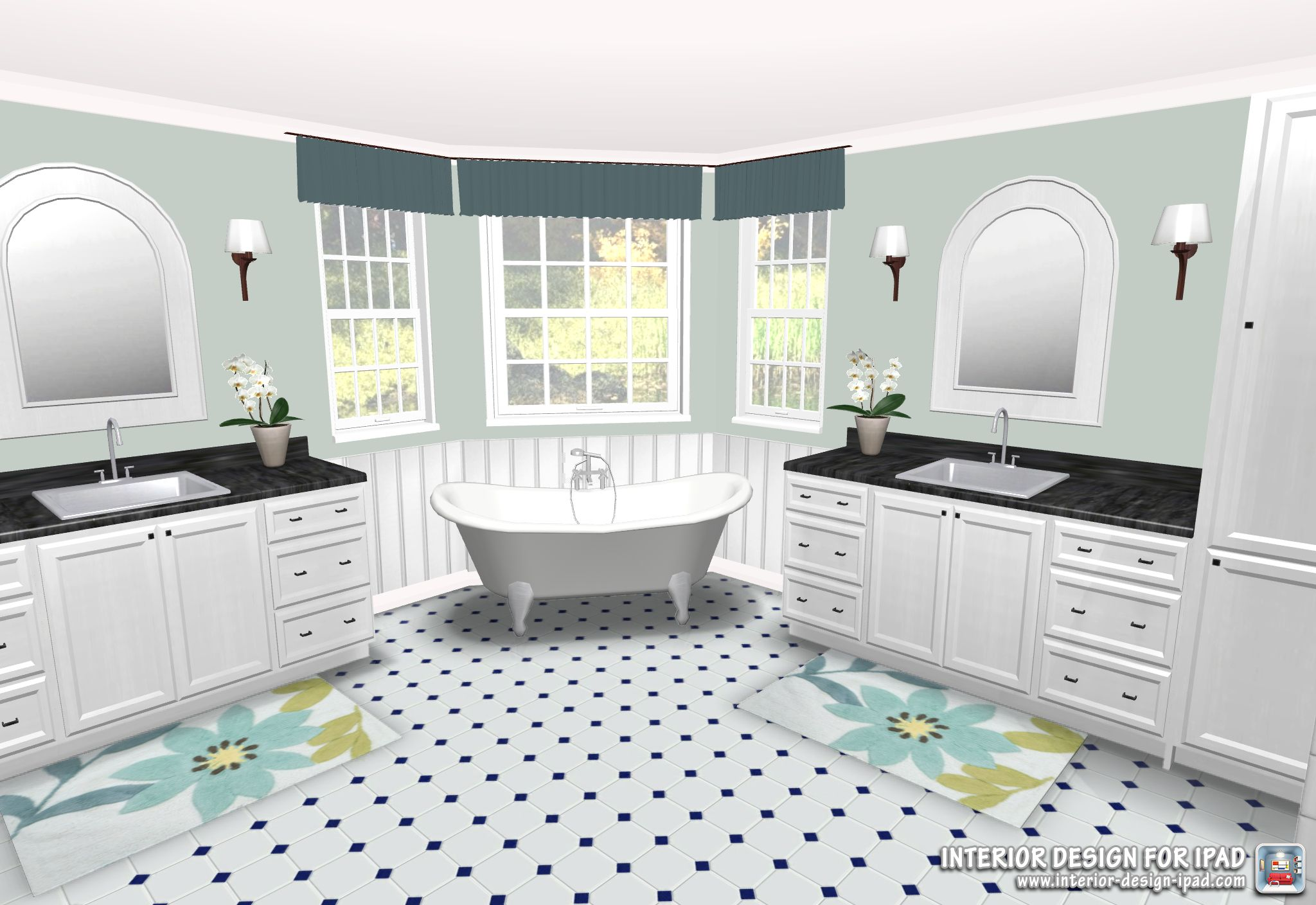Luxury Bathroom Created With Interior Design For Ipad
