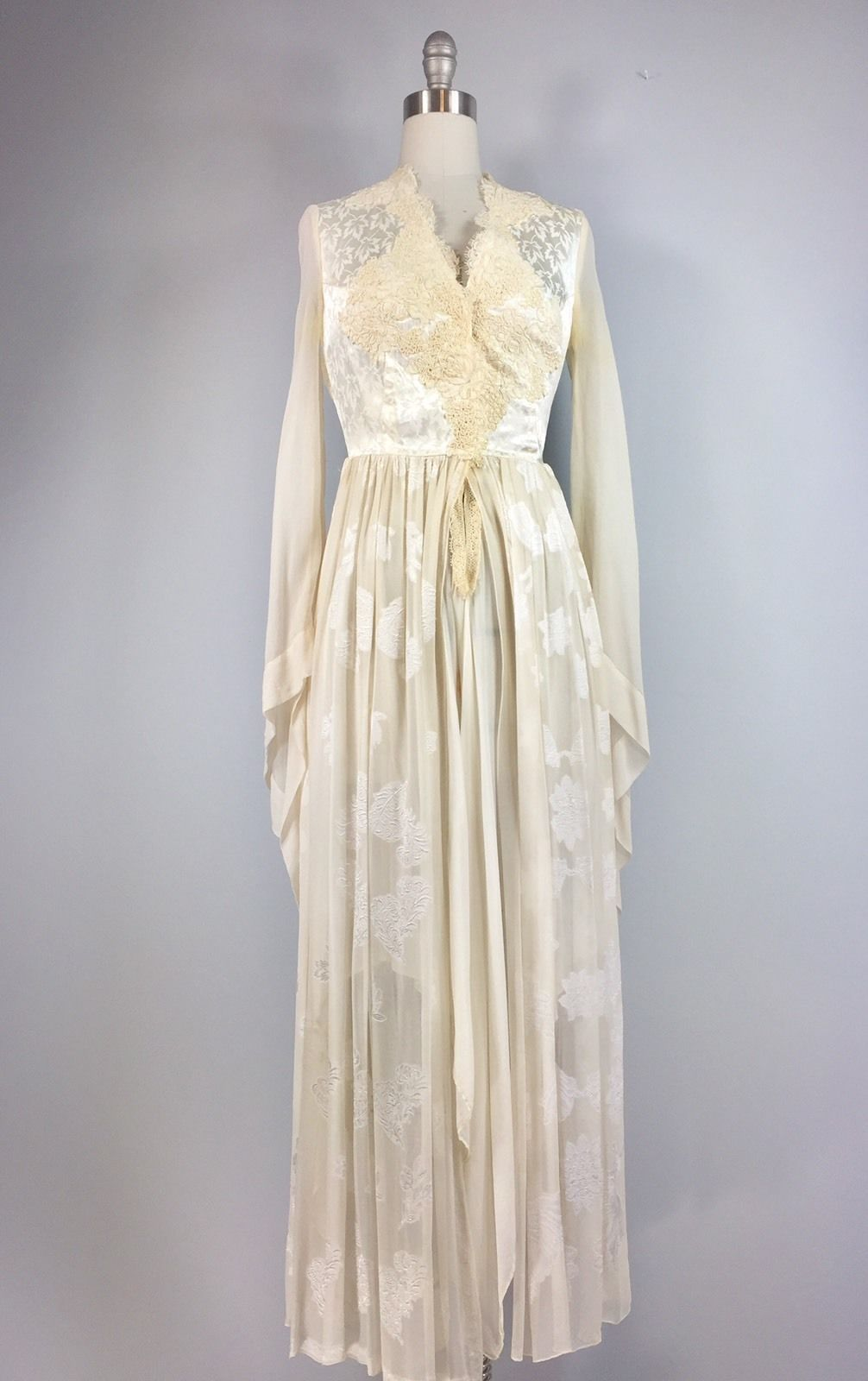 Janine's London 70s Dress Vintage 1970s White wedding