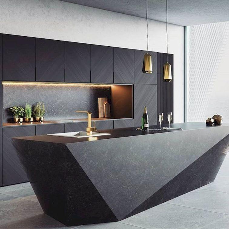 20 Elegant And Luxury Kitchen Design Ideas Trenduhome Kitchen Interior Design Modern Luxury Kitchen Geometric Kitchen