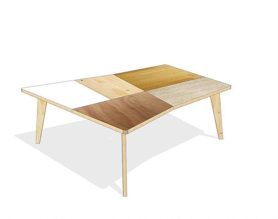 Table De Reunion Design Par Isabelle Pujade Pour Atelier Extramuros Table De Reunion Mobilier Sur Mesure Mobilier