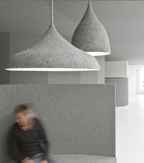 Felt Lighting And Walls By Dutch Designers I29 Interior Architects Interior Architect Lamp Design Lighting Inspiration