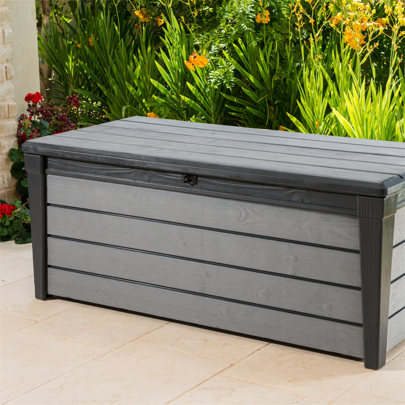Keter 455l Brushwood Outdoor Storage Box Patio Storage Outdoor Storage Bin Outdoor Storage Box