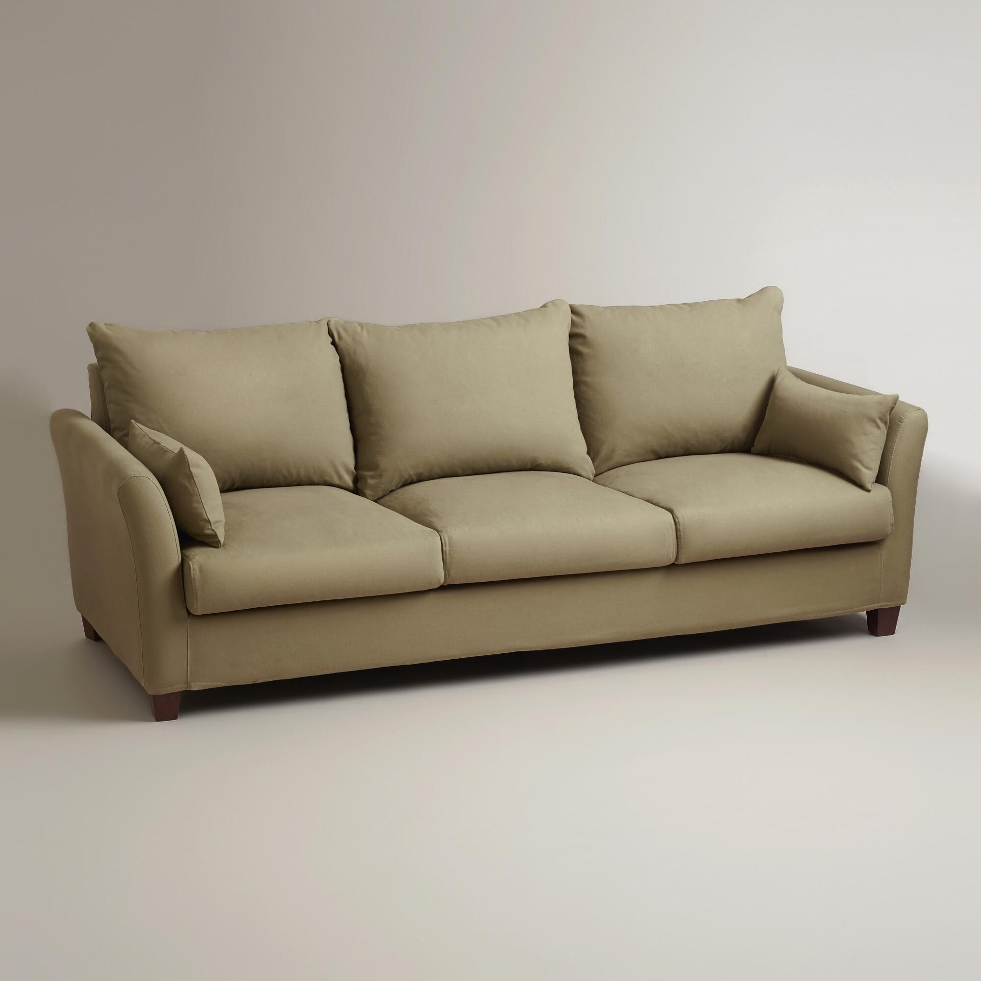 Sage Luxe 3 Seat Sofa Slipcover Designed To Fit Like A Glove Dry Clean Only 99 11 12 15