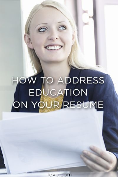 Resume  How to Address Education on Your Resume Business - resume with education