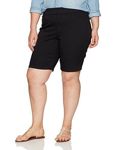 57174b758e Napa Valley Women s Plus Size Cotton Super Stretch Pull on Bermuda Short