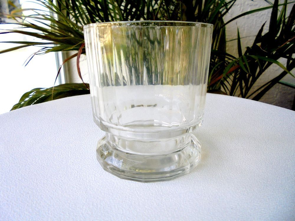 "Dansk GUSTAV Pattern Crystal Double Old Fashioned Glass 3 3/4"" Tall #Dansk"