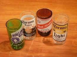 Check out this item in my Etsy shop https://www.etsy.com/listing/457875514/beer-bottle-glassware-set-of-4