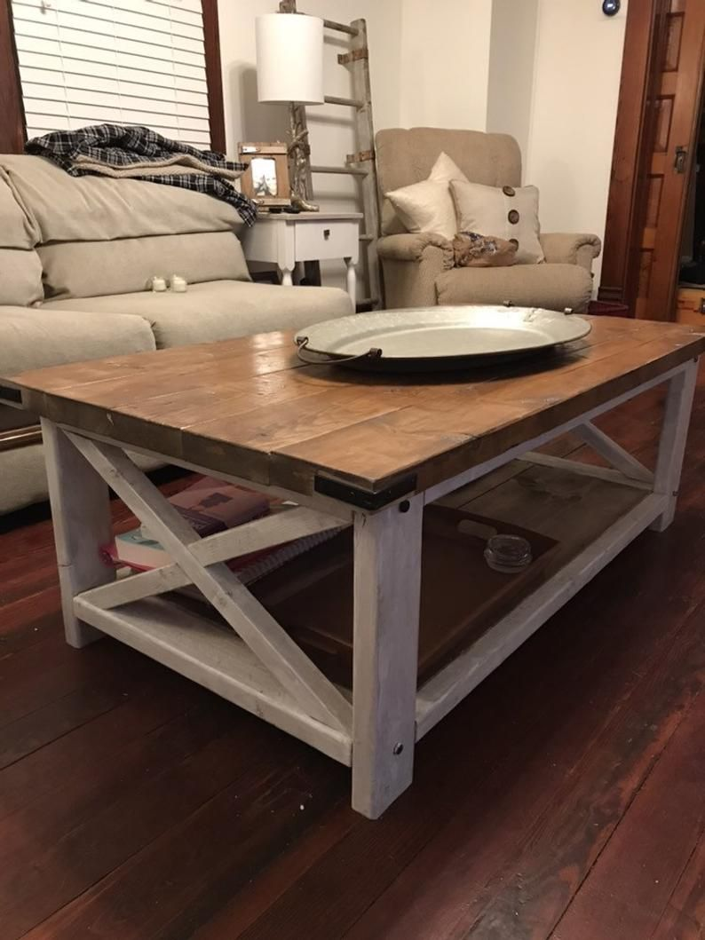 Farmhouse Coffee Table Etsy In 2021 Coffee Table Farmhouse Modern Farmhouse Coffee Table Country Coffee Table [ 1059 x 794 Pixel ]