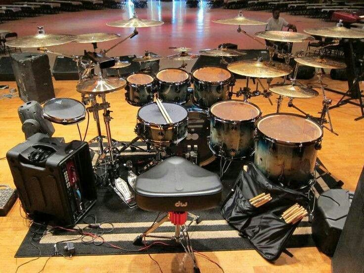 how to set up a drum set with double bass pedal