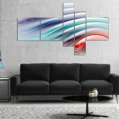 (eBay link) Designart 'Water Ripples Rainbow Waves' Abstract Canvas Art 60 in. wide x 32 in  #home #garden #homedcor #postersprints #fashion #waterripples