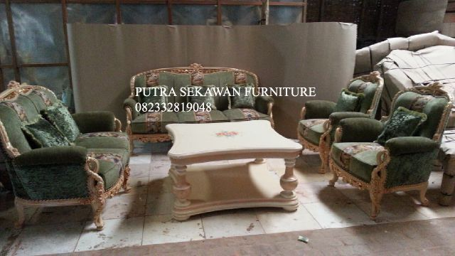 Sofa Mewah Italy Wood Carving Furniture Sofa Set Furniture