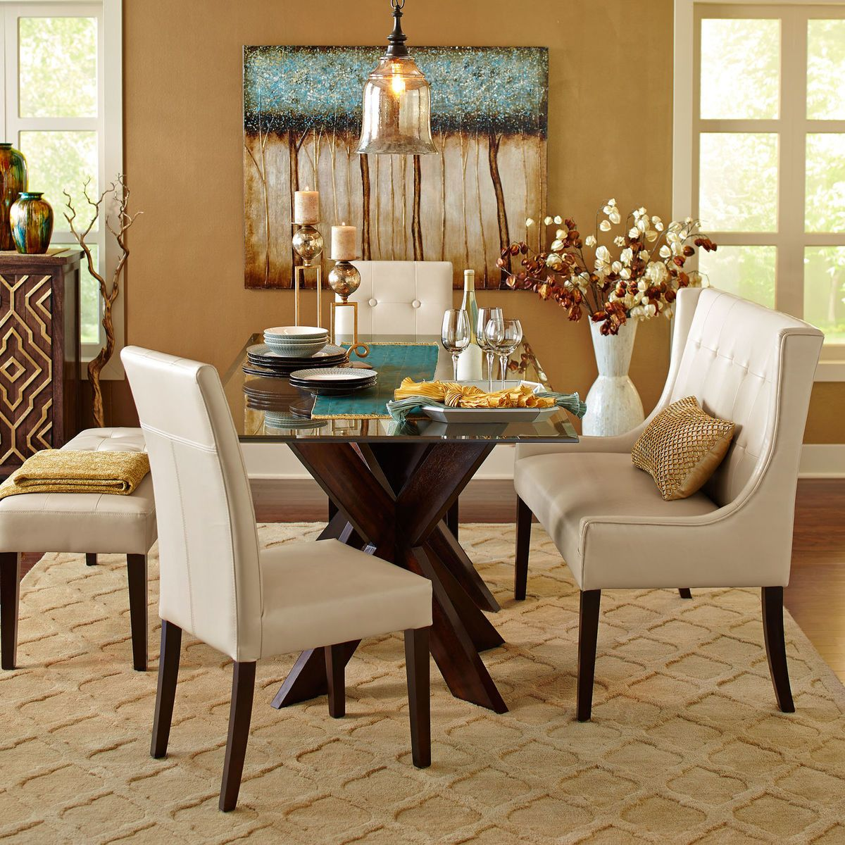 Ordinaire Bennett Glass Table Top Dining Collection | Pier 1 Imports