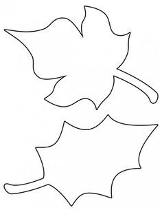Simple Leaf Template | www.pixshark.com - Images Galleries ...