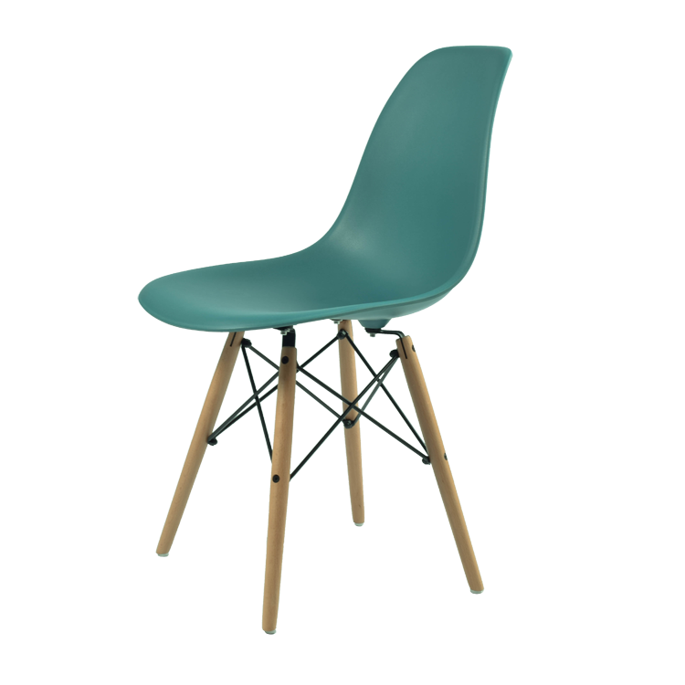 Wooden Base Plastic Top Eames Dining Chair Eames Dining Chair
