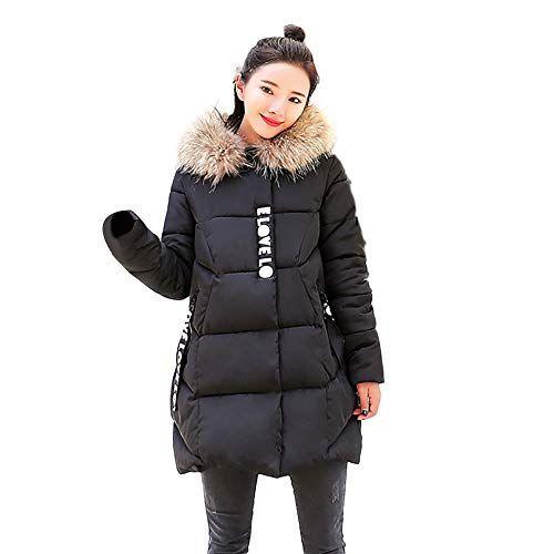 dc8c57f0332 Seaintheson Women Down Jacket Winter Parka Coats Long Thicker Fur Collar  Cotton Padded Coats Outwear Overcoat