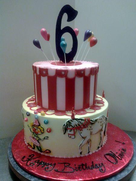 Outstanding Circuscake Circusbirthday Customcake Atlantabakery Personalised Birthday Cards Arneslily Jamesorg