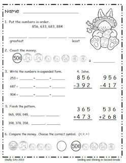 Smiling and Shining in Second Grade: Easter Math Freebie | Second ...