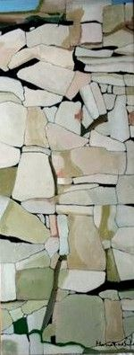 Marianne Sihm, Fraction, 16 x 40 inches, oil on canvas