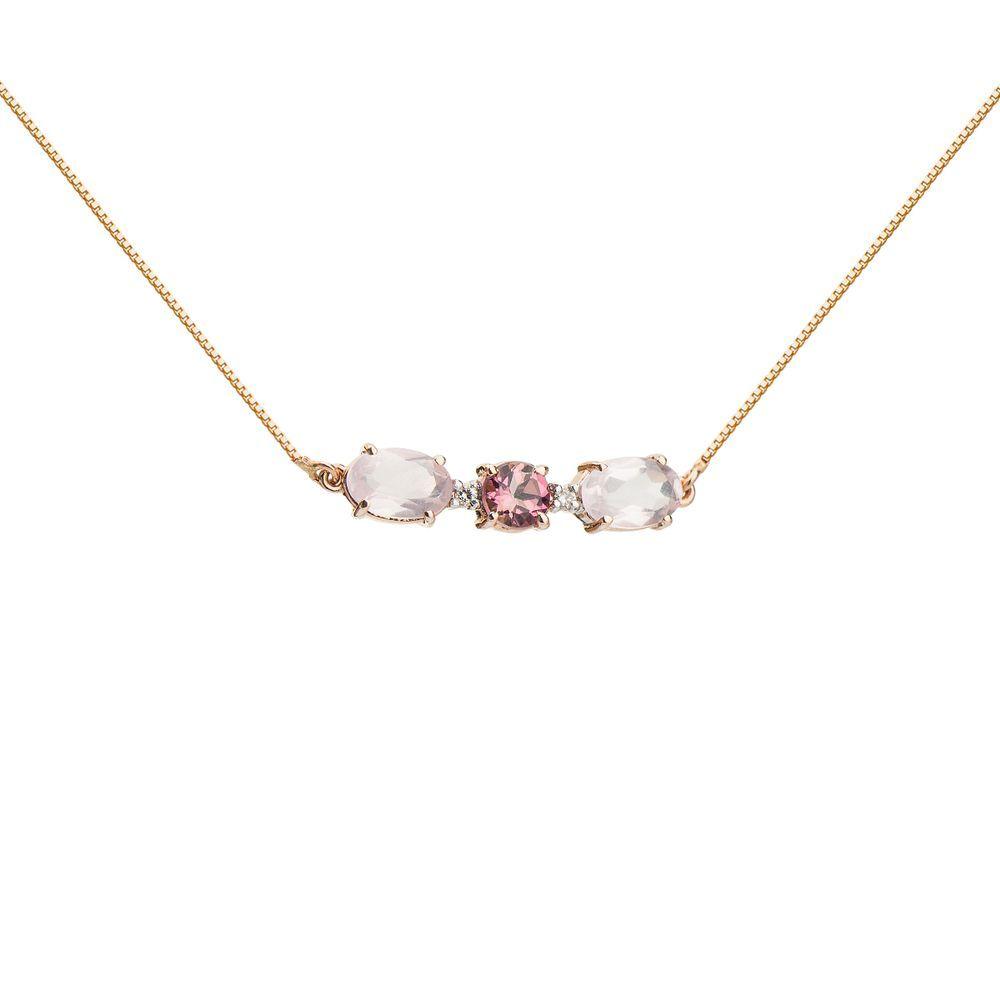 Gargantilha em Ouro 18k Choker Quartzo, Turmalina e Diamante A excelência  do contraste de cores e formas é o que chama a atenção na gargantilha. 78f78e7f43