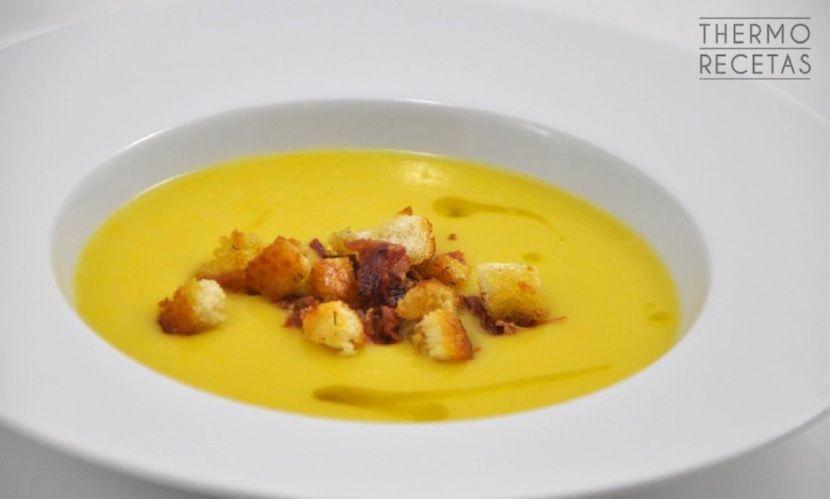 Crema de puerro, zanahoria y patatas