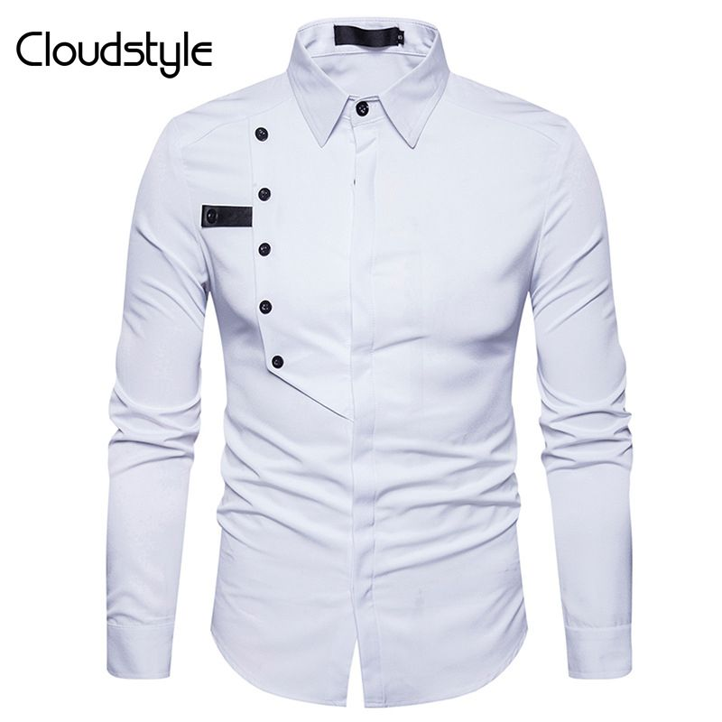 e438727c15d165 Cheap slim fit dress shirt, Buy Quality white men shirt directly from China  white mens business shirts Suppliers: Cloudstyle Brand New White Men Shirt  2018 ...