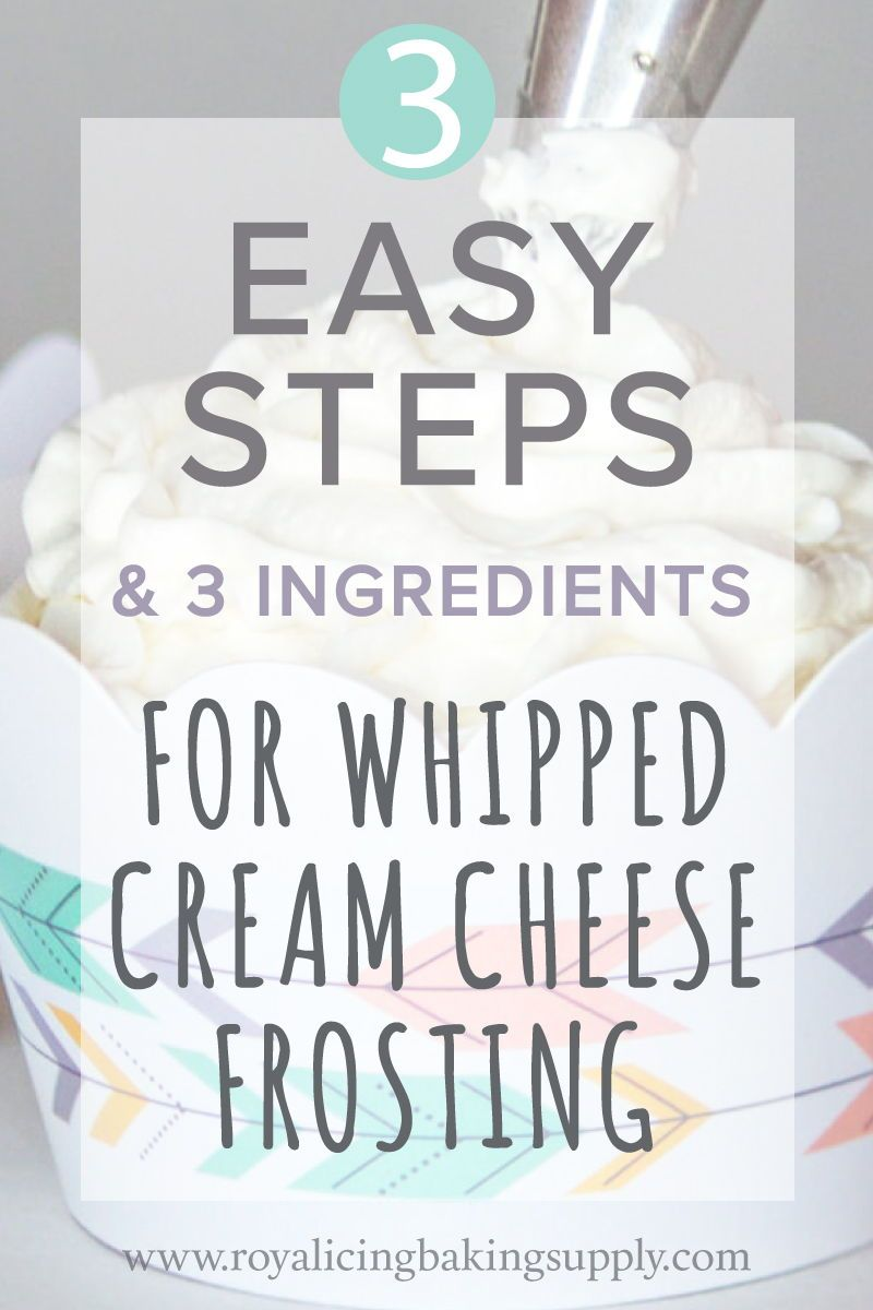 Whipped Cream Cheese Frosting Recipe • Lower Sugar & Oh So Easy — Royal Icing Baking Supply