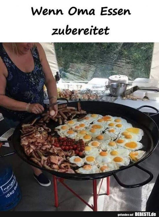 Wenn Oma Essen zubereitet..   Lustig essen, Essen, Kochen ...