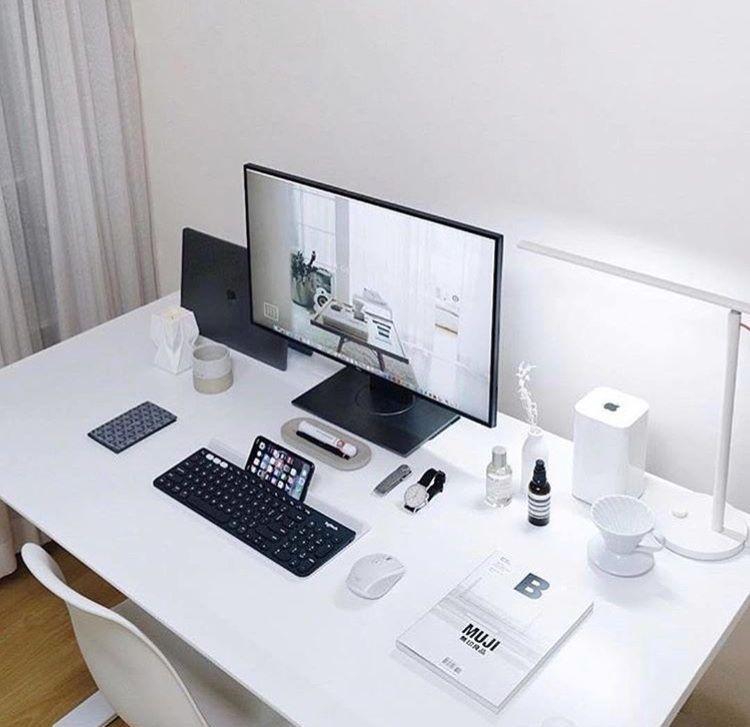 Minimal Desk Setup Desk Setup Creative Office Space Work Station Desk