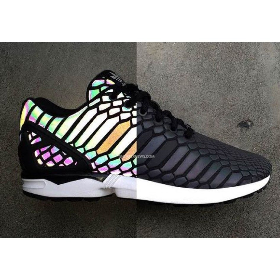 the best attitude abbcf 4c419 Adidas ZX Flux Xeno Reflective Limited 3M Hologram B24441 Black