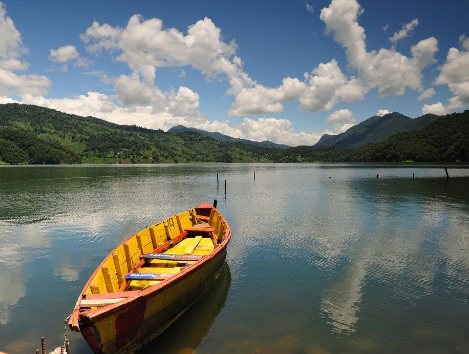 Beautiful view of Begnas Lake in Nepal
