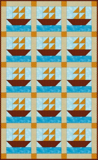 Sailboats Quilt Pattern - Janet