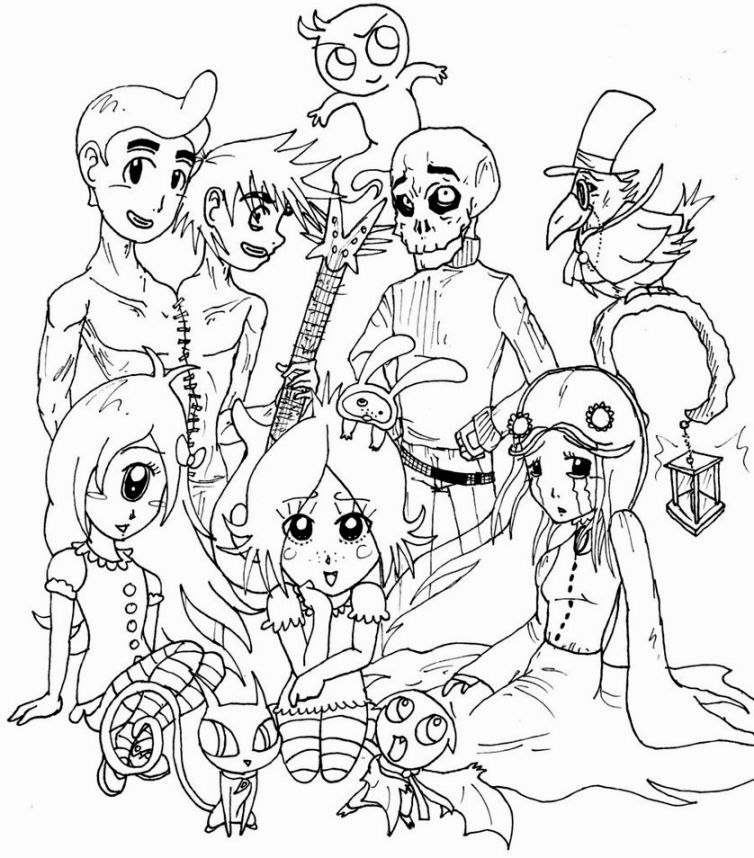 Ruby Gloom Coloring Pages | Coloring Pages | Pinterest | Coloring ...