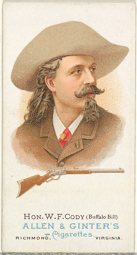Hon. William Frederick Cody (Buffalo Bill), Rifle Shooter, from World's Champions, Series 1 (N28) for Allen & Ginter Cigarettes Allen & Ginter  (American, Richmond, Virginia) Lithographer: Lindner, Eddy & Claus (American, New York) Date: 1887