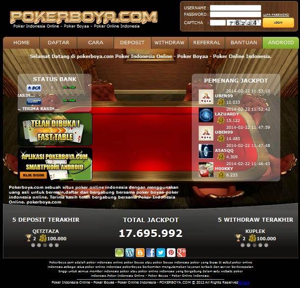 Pin Di Poker Indonesia Online Poker Boyaa Poker Online Indonesia