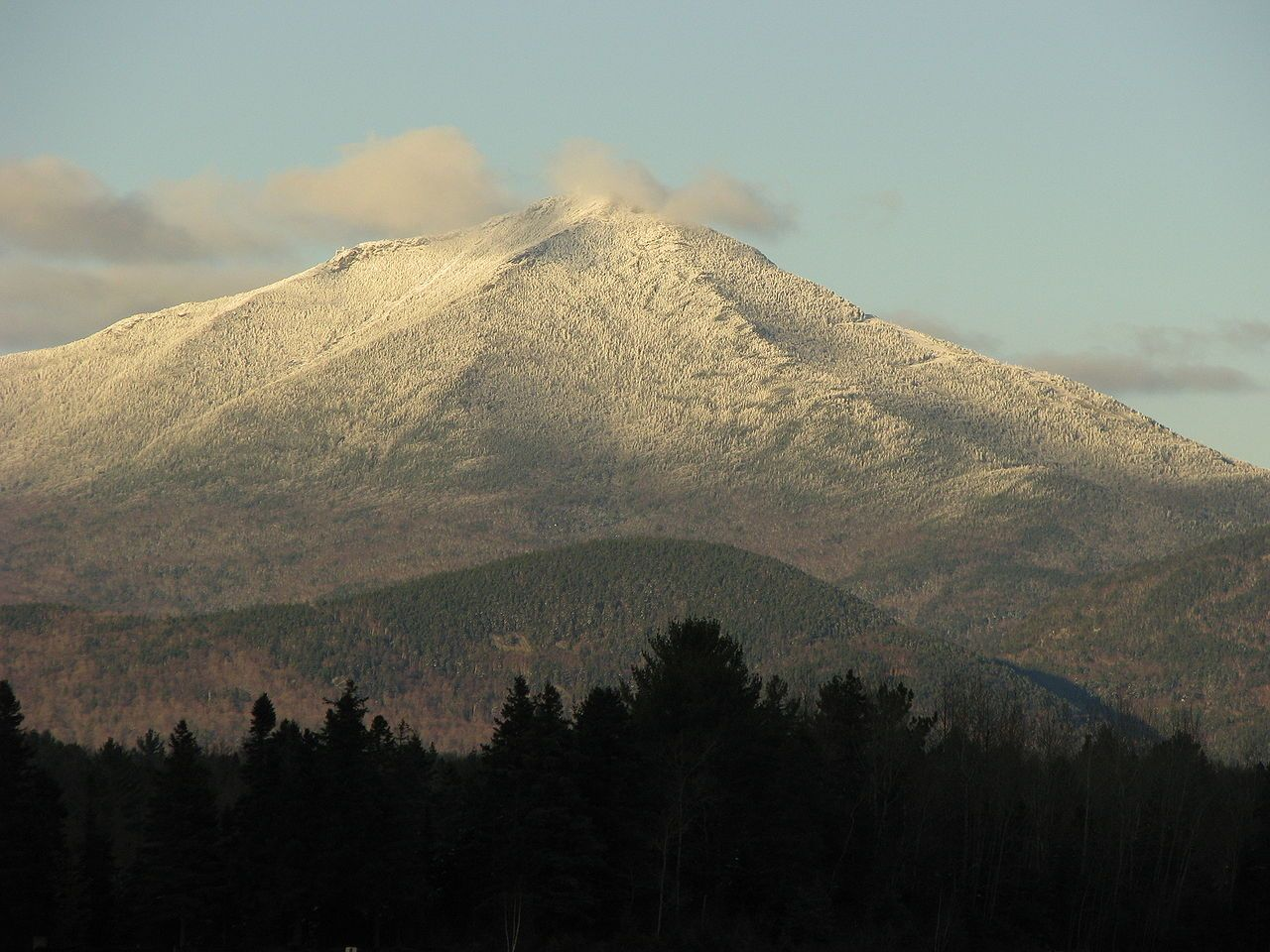 Whiteface Mountain from Lake Placid, NY, Airport. Click on this and the next image for larger viewing.
