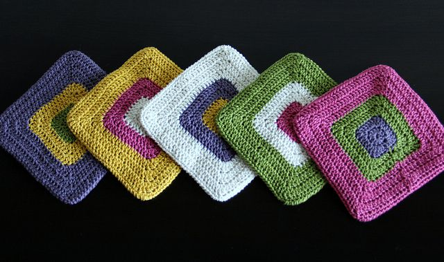 Coffee and Cream Potholders;   lovely colors!