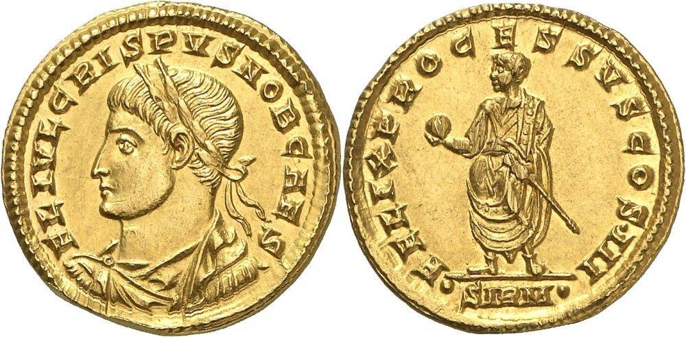 emperor constantine and his son caesar crispus ile ilgili görsel sonucu