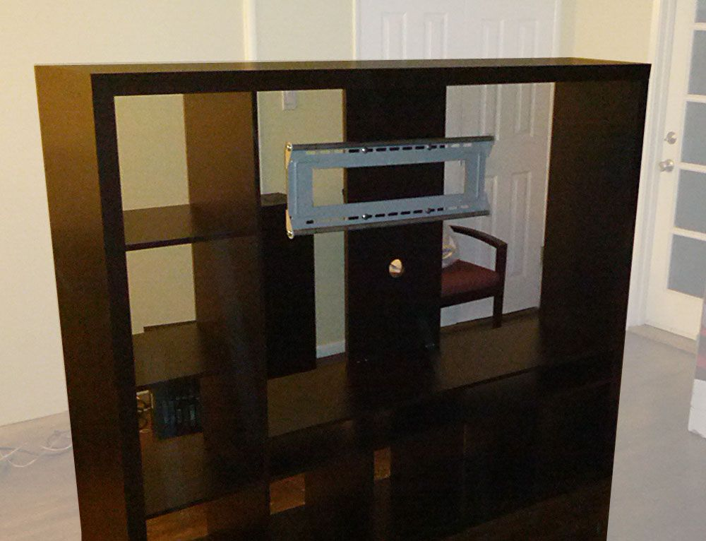 Tv Storage Unit With Integrated Reinforced Television