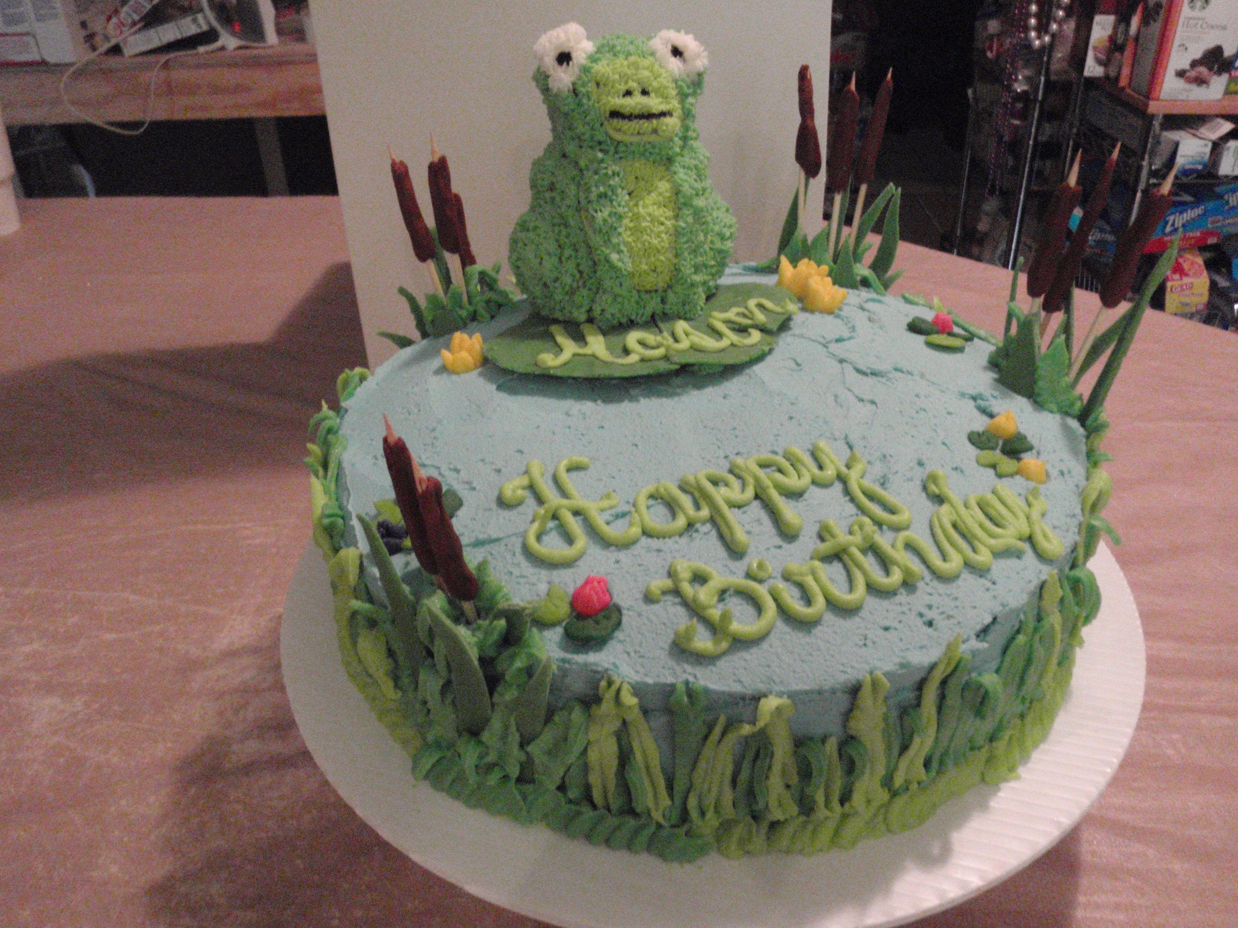 Frog Birthday Cake Party Cakes Cupcakes Pinterest Birthday