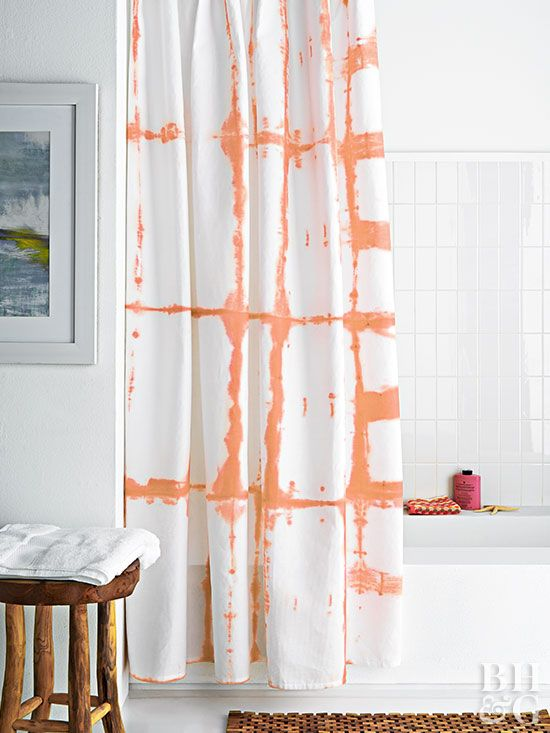 Dress Up Your Bathroom With This Modern Grid Shower Curtain Choose A Liquid Dye To